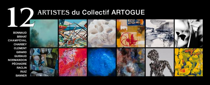 12 artistes du collectif ARTOGUE